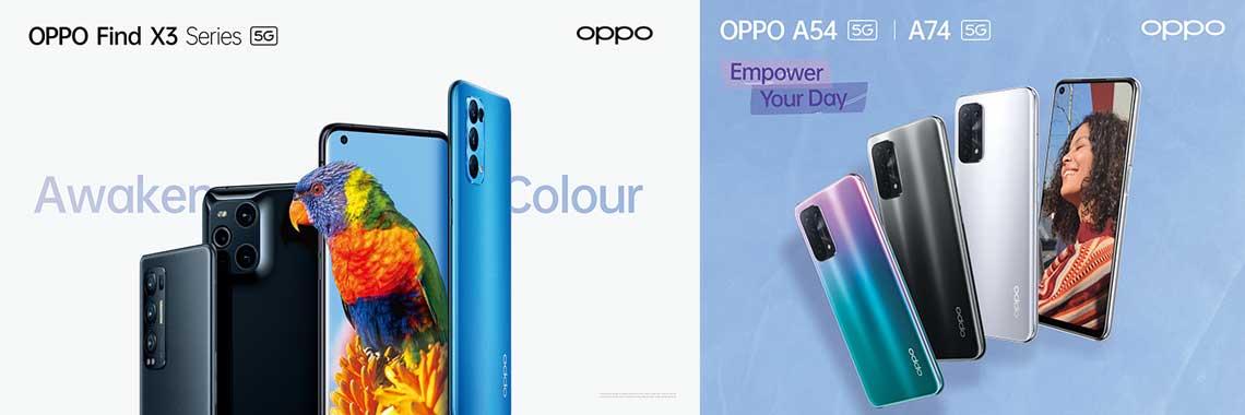 OPPO Find X3 OPPO A54 A74  5G