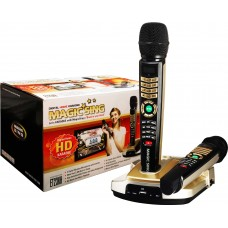 Magic Sing ET23KH HD Resolution Karaoke System with 2 Wireless Microphones